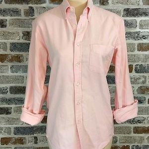 J. Crew pink oxford slim button down shirt, sz S